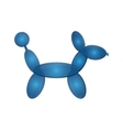 dog balloon figure icon vector image
