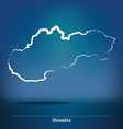 Doodle Map of Slovakia vector image vector image
