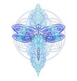dragonfly tattoo vector image vector image