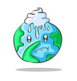environmental doodles with world vector image vector image