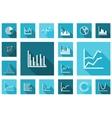 Flat charts and graphs set vector image vector image