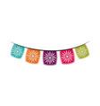 flowers pennants decoration cinco de mayo mexican vector image vector image