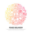 food delivery circle concept vector image vector image