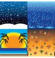 four seasons in one day vector image