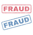 fraud textile stamps vector image vector image