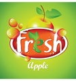 fresh apple juice with fruit vector image vector image
