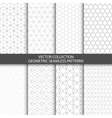 Geometric ornamental patterns vector image