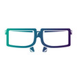 glass 3d accessory vision optical icon vector image