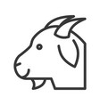 goat head farm animal line style editable stroke vector image vector image
