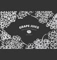 grape design template hand drawn grape berry on vector image