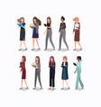 group of businesswomen characters vector image vector image