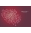 hearts lineart doodle vector image vector image