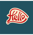 hello text lettering red characters vector image vector image