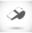 Icon sports whistle vector image vector image