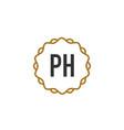 initial letter ph elegance creative logo vector image vector image