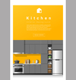 Interior design Modern kitchen banner 5 vector image vector image