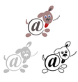 international sign email animals dog vector image vector image