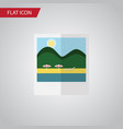 isolated pictures flat icon reminders vector image vector image