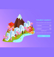 japan travel isometric web page vector image vector image