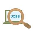 Job Searching vector image