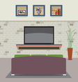 Living Room Decorated vector image
