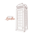 London Greeting Card vector image vector image