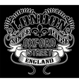 london typography t-shirt graphics vector image