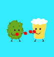 marijuana weed bud fighting vector image