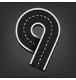 Nine number Road font vector image vector image