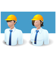 People Icons Engineer Man and Women vector image vector image