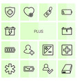 plus icons vector image vector image