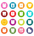 pocket types icons many colors set vector image vector image
