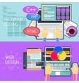 Program coding and web design vector image vector image