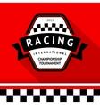 Racing badge 05 vector image vector image