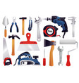 repair renovation carpentry tools set vector image vector image