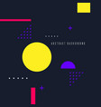 retro abstract geometric background the poster vector image vector image
