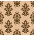 Retro dark brown seamless pattern vector image vector image