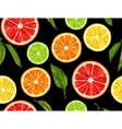 Seamless pattern with citrus fruits slices Mix of vector image vector image