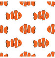 seamless pattern with clown fish vector image