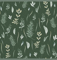 seamless pattern with watercolor leaves vector image vector image