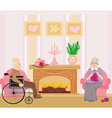Senior couple resting at home vector image