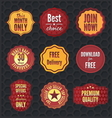 set badges and stickers vector image vector image
