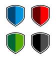 set colorful shield logo template design eps 10 vector image