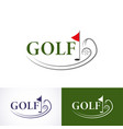 set golf logo template the logo is designed in a vector image vector image
