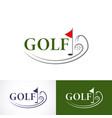 set golf logo template the logo is designed vector image