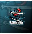 shinobi esport mascot logo design vector image vector image