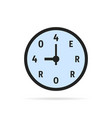 simple 404 error on watch vector image vector image