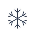 snowflake icon black silhouette snow flake sign vector image