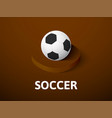 soccer isometric icon isolated on color vector image vector image