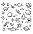 space doodle elements hand drawn stars vector image vector image